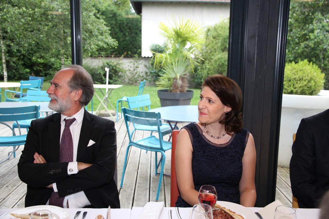 Alberto ANTON CORTEZ et Gabriella DANCAU, Consuls Généraux d'ESPAGNE et de ROUMANIE