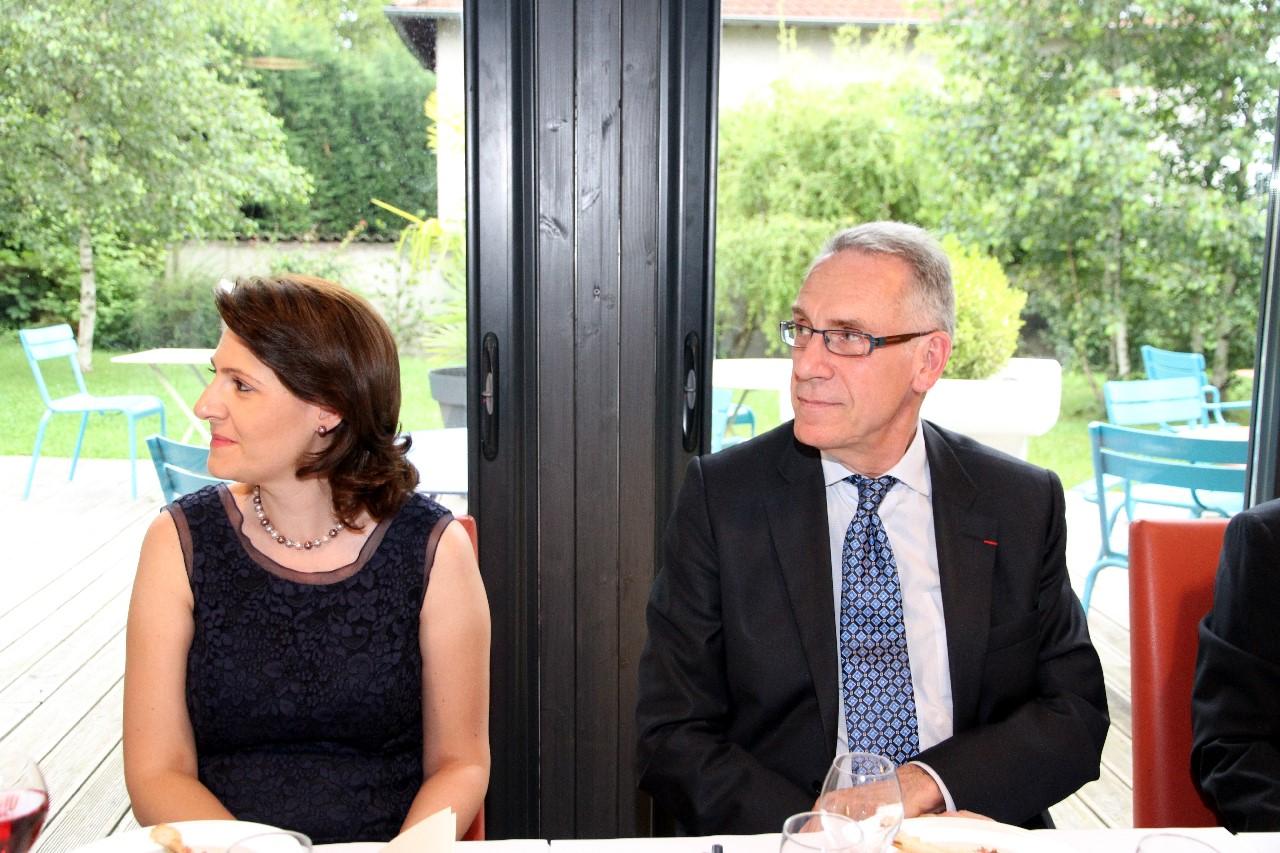 Gabriella DANCAU et Henri REYNAUD, Préfet en charge des affaires Internationales