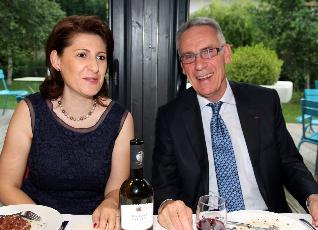 Dîner du 20 Juin 2016, Gabriella Dancau, Consul Général de ROUMANIE et Henri REYNAUD